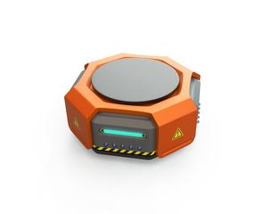オレンジ色の物流運搬支援ロボットのイメージの写真素材 [FYI04648831]