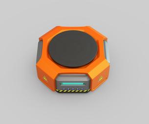オレンジ色の物流運搬支援ロボットのイメージの写真素材 [FYI04648835]