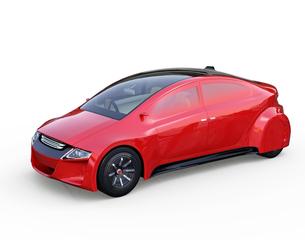 メタリックレッド色の自動運転車のイメージの写真素材 [FYI04648871]