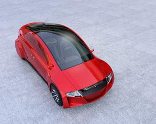 メタリックレッド色の自動運転車のイメージの写真素材 [FYI04648873]