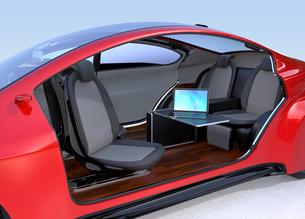 自動運転車のインテリアイメージの写真素材 [FYI04648877]