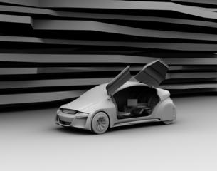 背景用グレーシェーディングの電気自動車イメージの写真素材 [FYI04648909]
