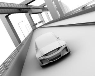 背景用グレーシェーディングの自動運転車イメージの写真素材 [FYI04648916]