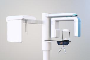 セファロ撮影装置が備えている歯科用パノラマ・CT複合撮影装置のイメージの写真素材 [FYI04649025]