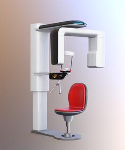 対面位置づけ方式、タッチパネル操作の歯科用パノラマ・CT複合撮影装置のイメージ。オリジナルデザインの写真素材 [FYI04649031]