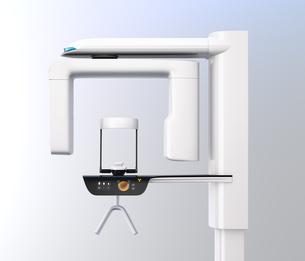対面位置づけ方式、タッチパネルが備えている歯科用パノラマ・CT複合撮影装置のイメージの写真素材 [FYI04649032]