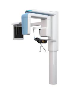 セファロ撮影装置が備えている歯科用パノラマ・CT複合撮影装置のイメージの写真素材 [FYI04649037]