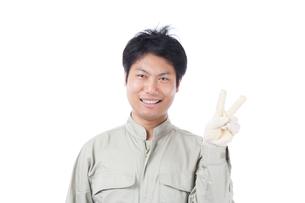 日本人作業員男性の写真素材 [FYI04649887]