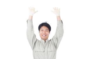 日本人作業員男性の写真素材 [FYI04649898]