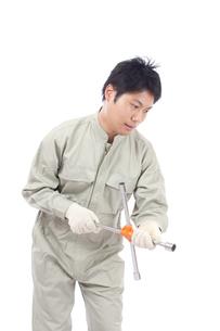 日本人作業員男性の写真素材 [FYI04649912]