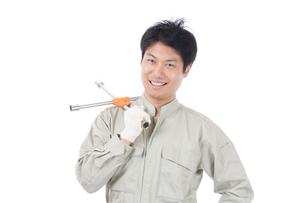 日本人作業員男性の写真素材 [FYI04649916]