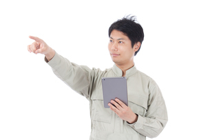 日本人作業員男性の写真素材 [FYI04649921]