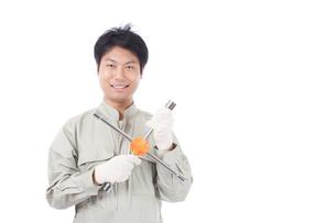 日本人作業員男性の写真素材 [FYI04649922]