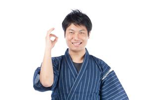 甚平を来た日本人男性の写真素材 [FYI04650095]