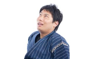 甚平を来た日本人男性の写真素材 [FYI04650103]