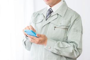 日本人男性作業員の写真素材 [FYI04652865]