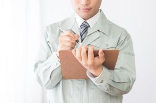 日本人男性作業員の写真素材 [FYI04652873]