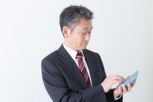 日本人シニアビジネスマンの写真素材 [FYI04654290]