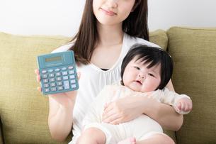 母親と赤ちゃんの写真素材 [FYI04655677]