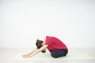ストレッチをする若い女性の写真素材 [FYI04656068]