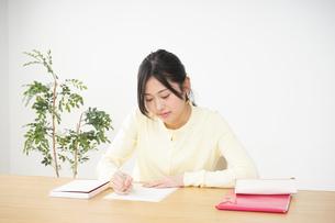 勉強する若い女性の写真素材 [FYI04656228]