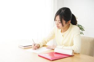 勉強する若い女性の写真素材 [FYI04656237]