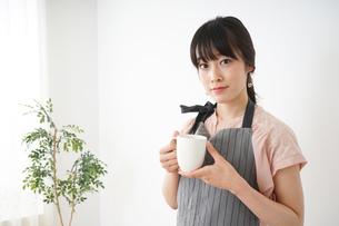笑顔のカフェスタッフの写真素材 [FYI04656354]