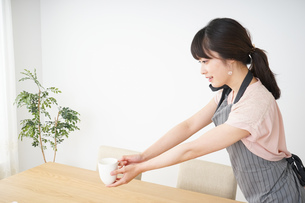 笑顔のカフェスタッフの写真素材 [FYI04656356]