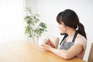 笑顔のカフェスタッフの写真素材 [FYI04656357]