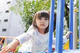 屋外で遊ぶ子供の写真素材 [FYI04658376]