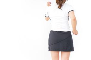 女性 スポーツ 後ろ姿の写真素材 [FYI04658730]