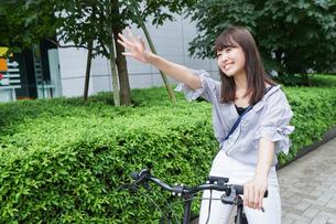自転車イメージ・アップの写真素材 [FYI04659103]