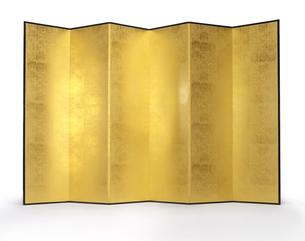 シンプルな金屏風の写真素材 [FYI04659721]
