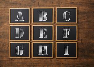 blackboard(English alphabet)の写真素材 [FYI04659947]