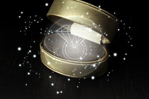 空いた箱 ダイヤモンドのワイヤーフレームのイラスト素材 [FYI04660051]
