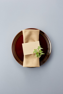 Table setting with dishesの写真素材 [FYI04660111]