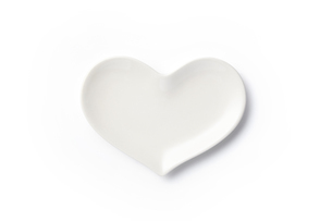 ハート皿 白の写真素材 [FYI04660163]