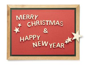 黒板 Merry Christmas and Happy New Yeaの写真素材 [FYI04660269]