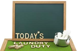 洗濯当番イメージの写真素材 [FYI04660426]