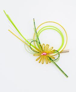 水引(paper strings tied around a wrapped gift)の写真素材 [FYI04660432]