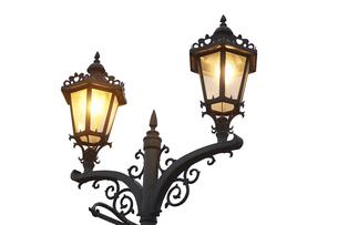 アールヌーボー調の街灯の写真素材 [FYI04660674]
