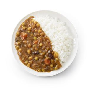 豆カレー  (バック飛ばし、真俯瞰)の写真素材 [FYI04661177]