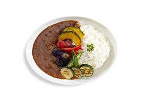 真上から見た夏野菜カレーの写真素材 [FYI04661223]