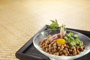 納豆 薬味のせの写真素材 [FYI04661836]