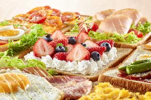 オープンサンドイッチ (open sandwich)の写真素材 [FYI04661898]