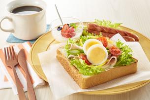 オープンサンドイッチ (open sandwich)の写真素材 [FYI04661906]
