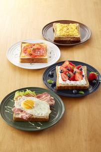 オープンサンドイッチ (open sandwich)の写真素材 [FYI04661909]