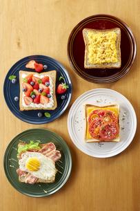 オープンサンドイッチ (open sandwich)の写真素材 [FYI04661926]
