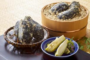 水ナスのぬか漬け (pickled water eggplant)の写真素材 [FYI04662034]