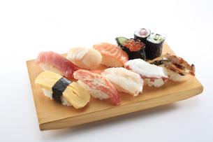 寿司盛り合わせ-10カンの写真素材 [FYI04662169]